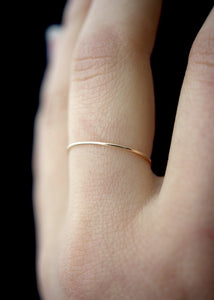 single thin gold stacking ring