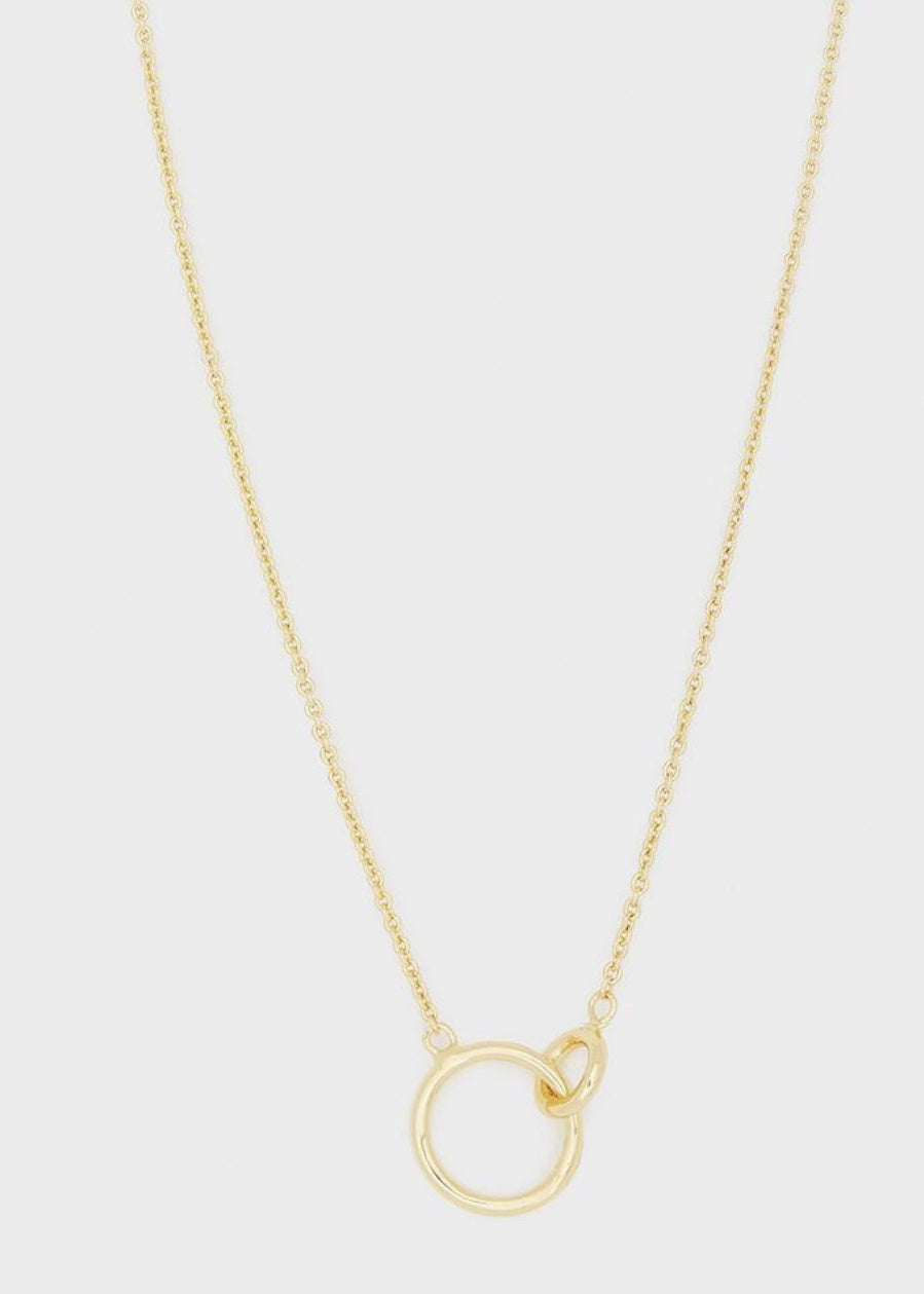 wilshire charm adjustable gold necklace
