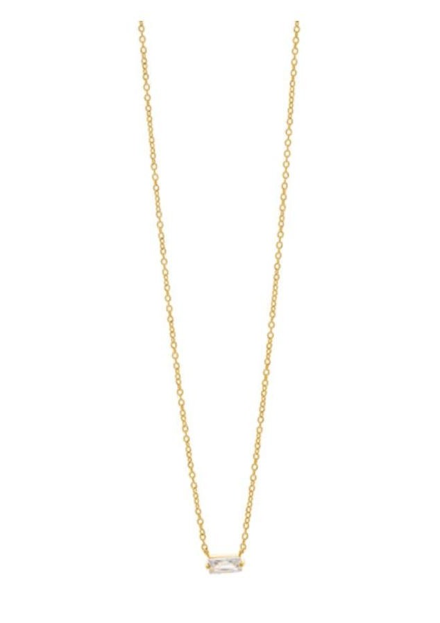 amara solitaire necklace gold