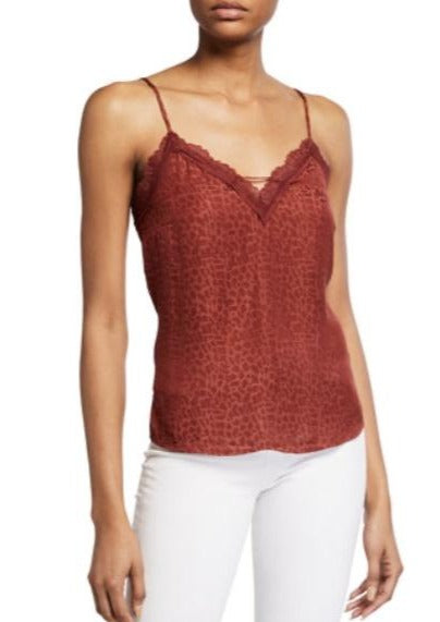 red brick crop cami