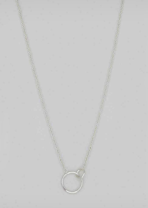 wilshire charm adjustable silver  necklace