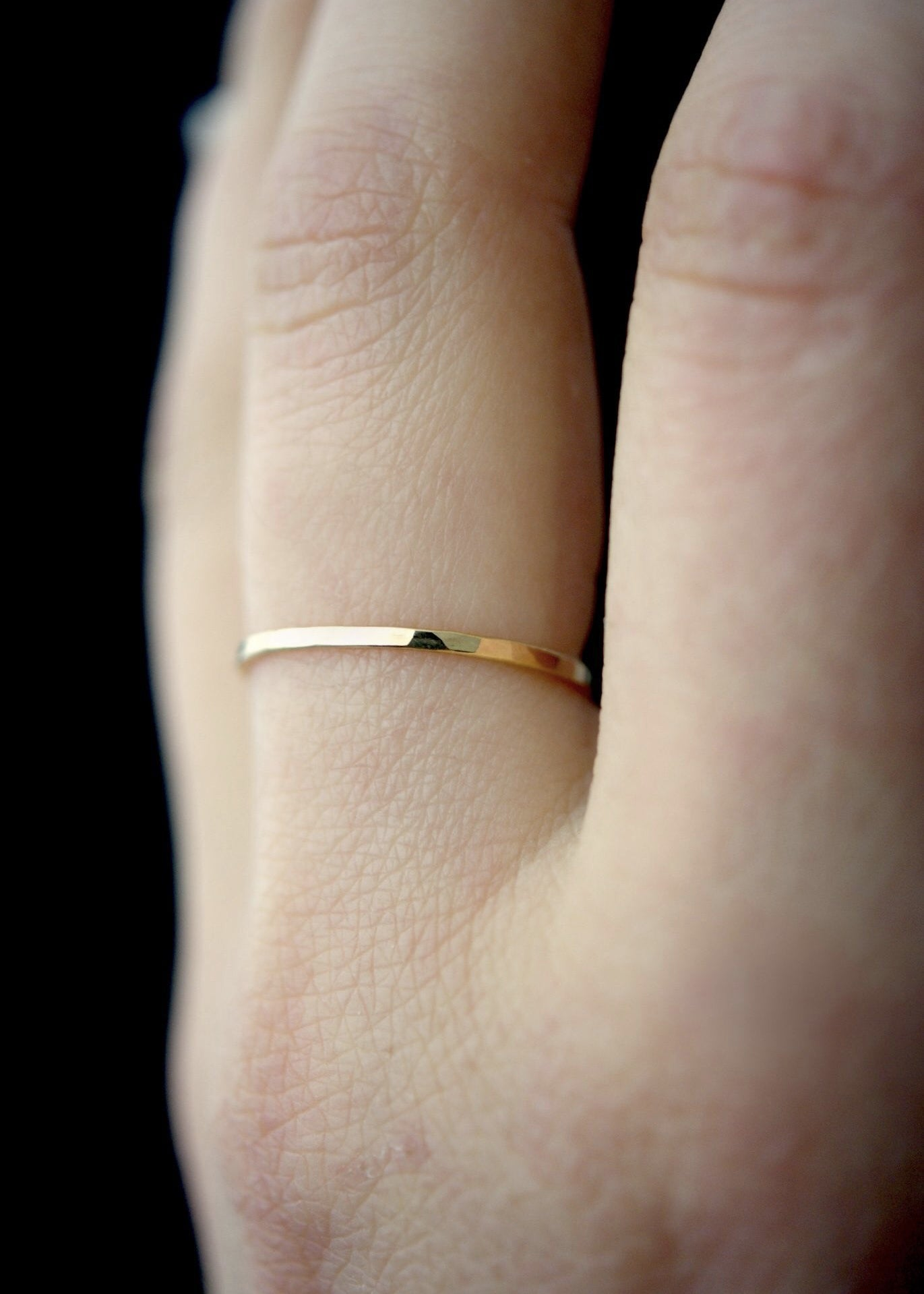 single medium thick gold ring