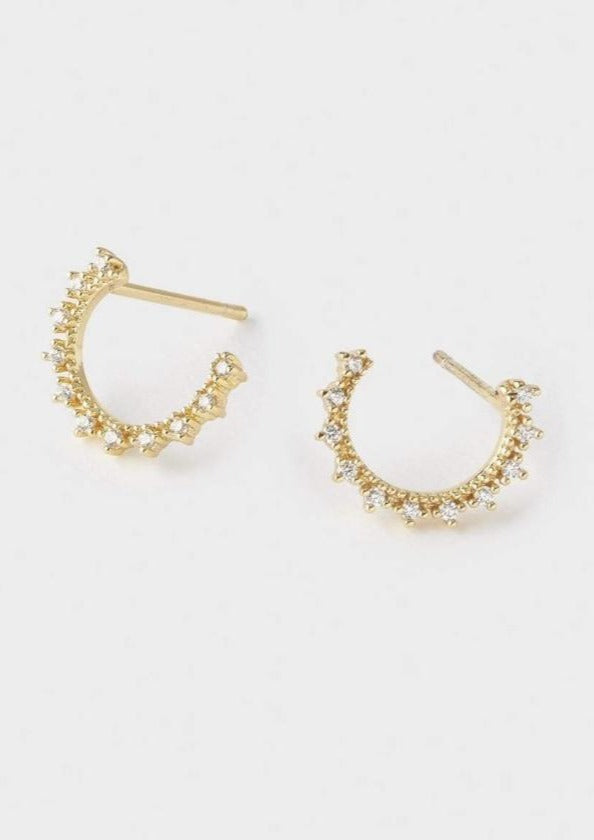gold celine small wrap studs