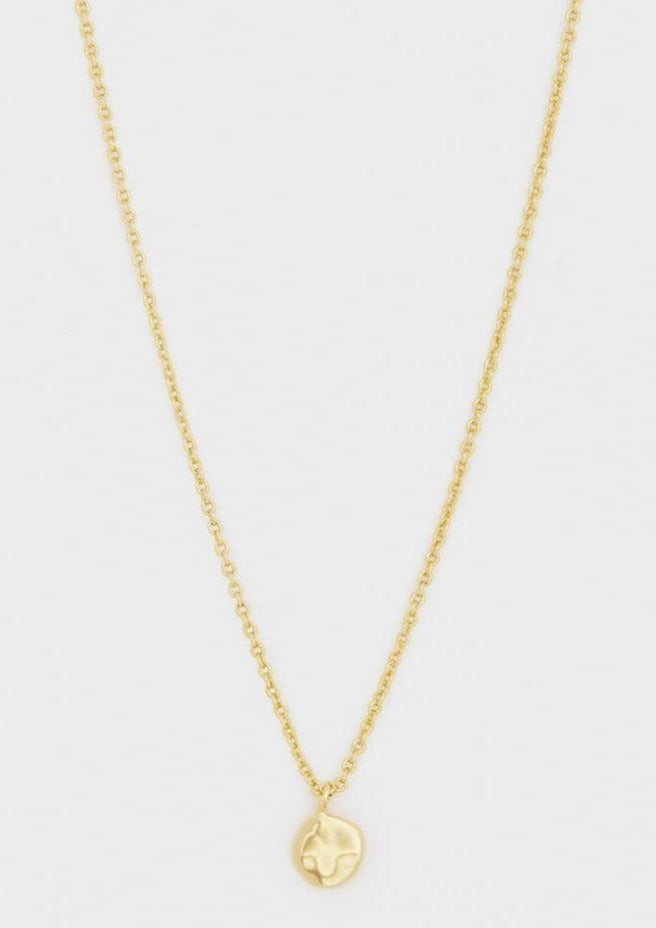 chloe charm adjustable necklace gold