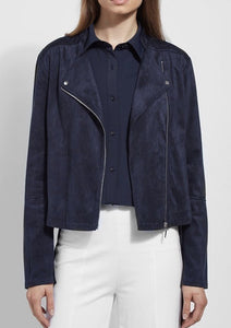 essential suede true navy jacket