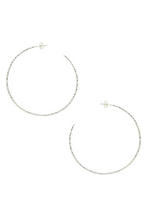 taner xl hoops silver