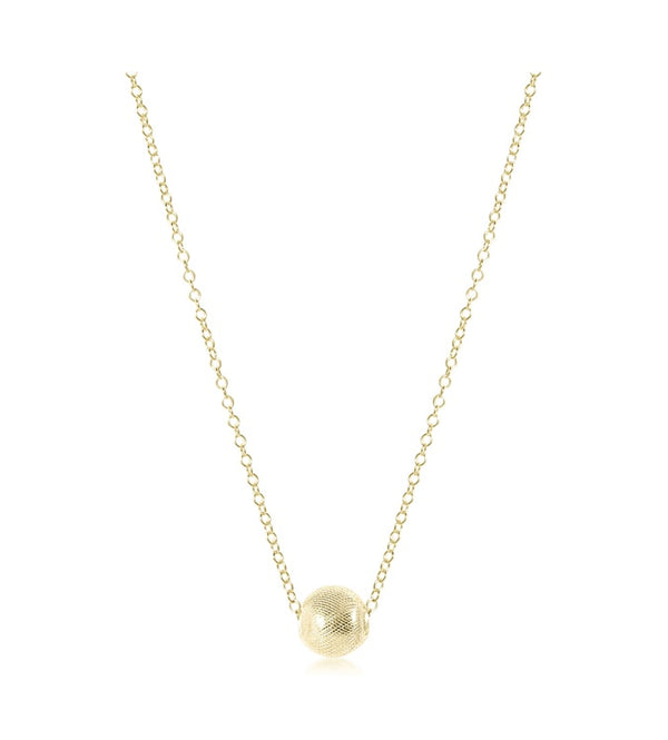 "16"" necklace gold- honesty"