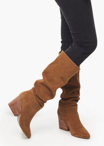 rojas tobacco tall suede boot