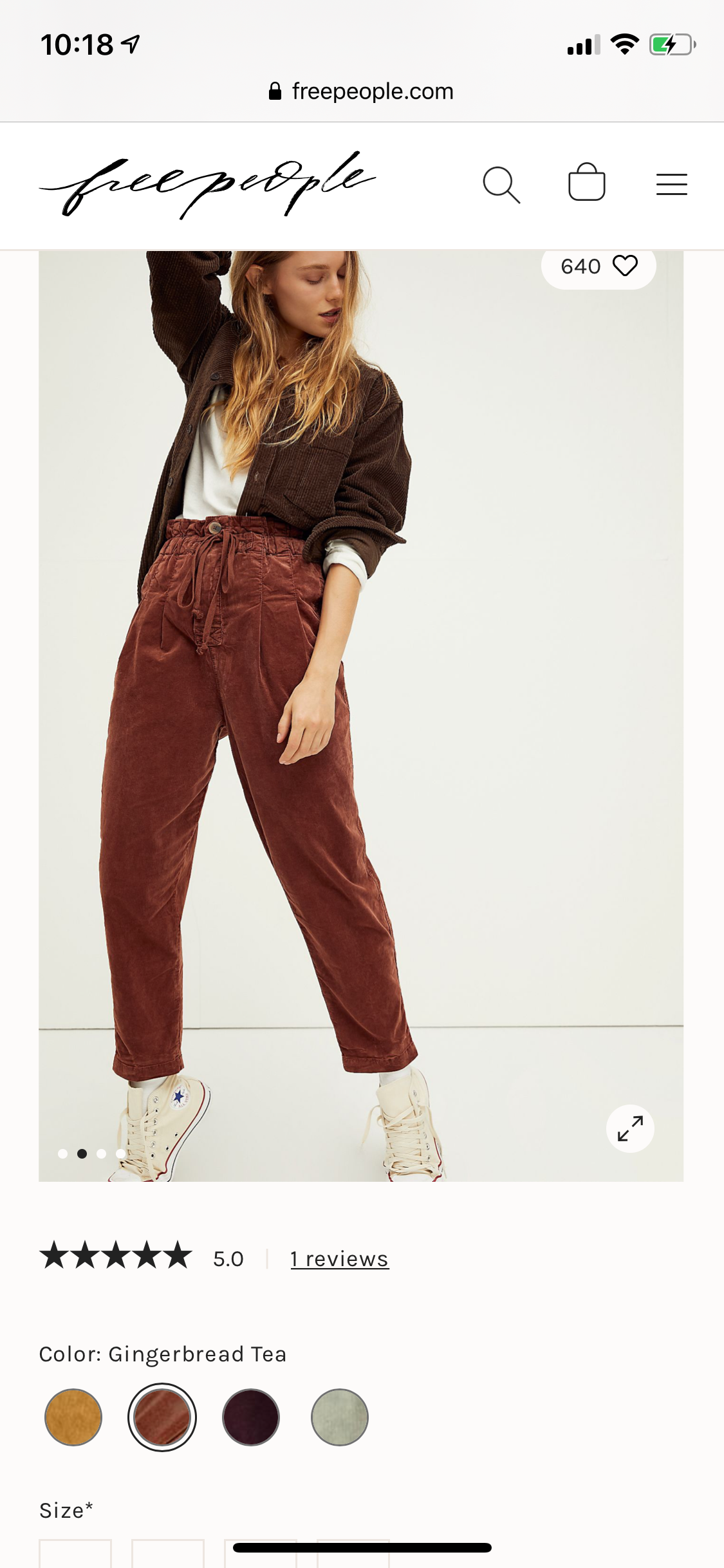 margate gingerbread cord trouser