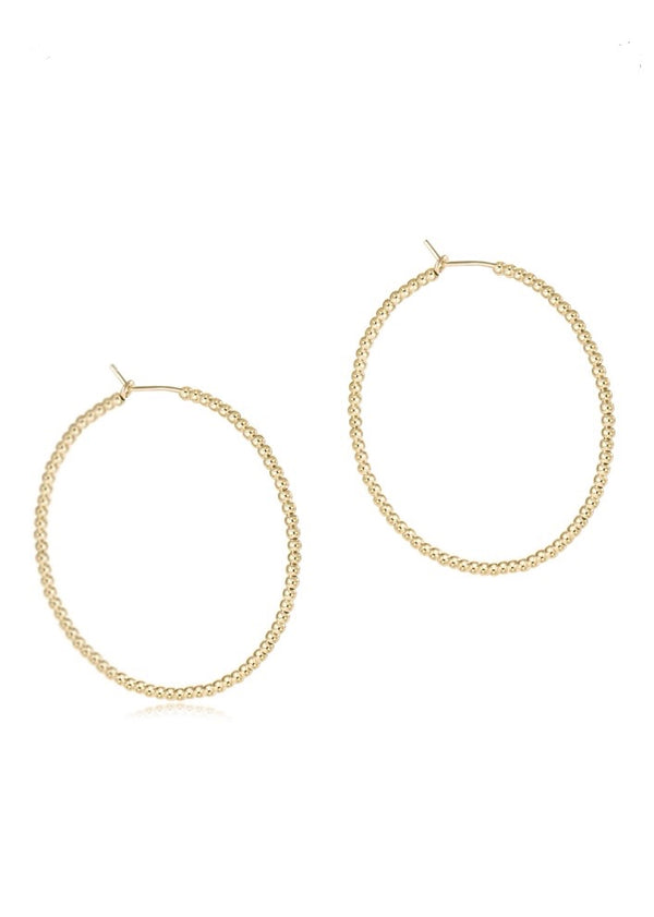 "beaded gold 1.25"" hoop - 3mm bead gold"