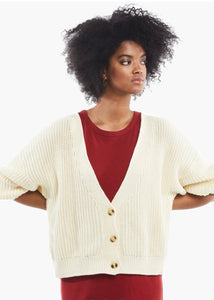 virginia cream sweater cardi