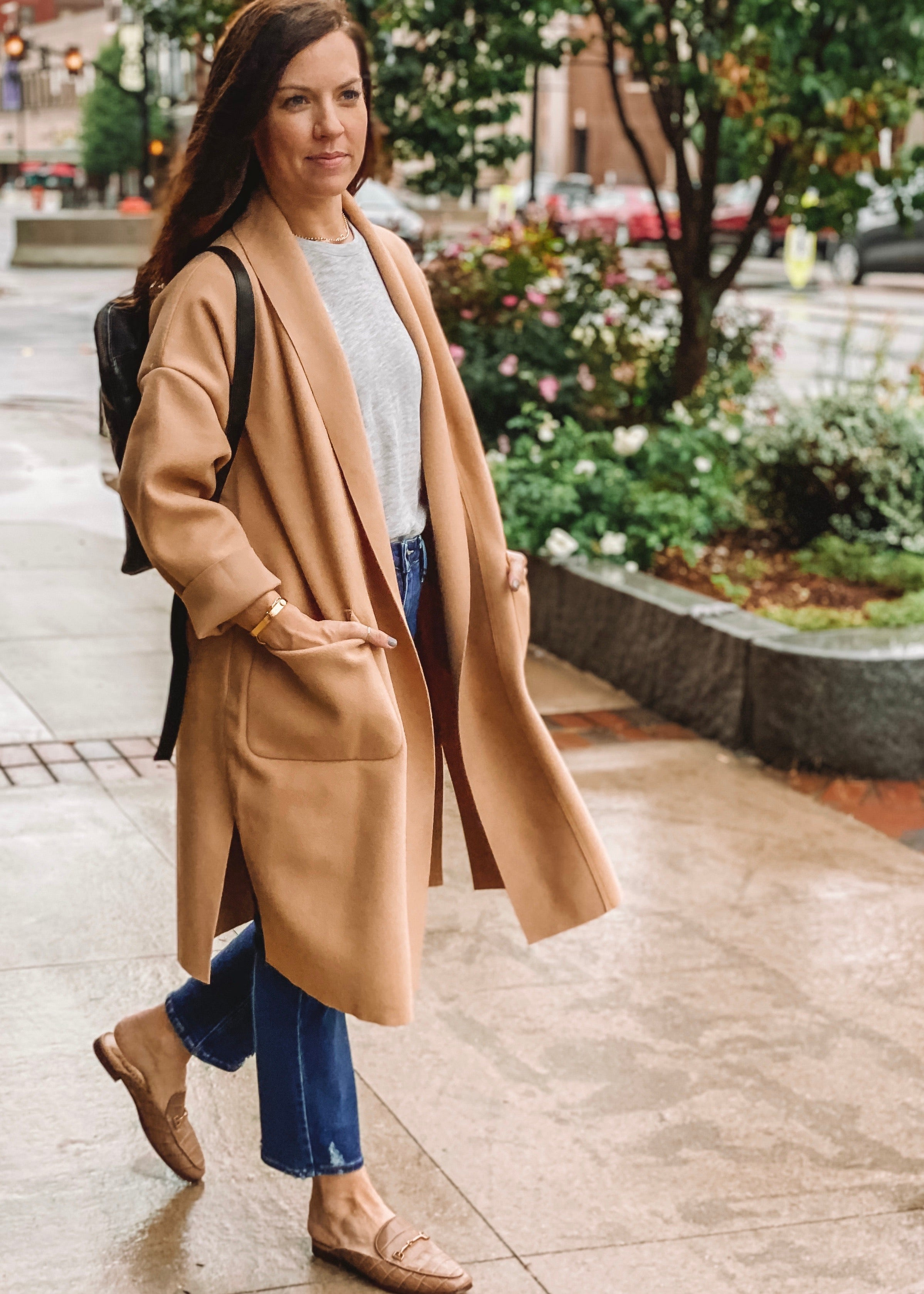 in a moment camel coat