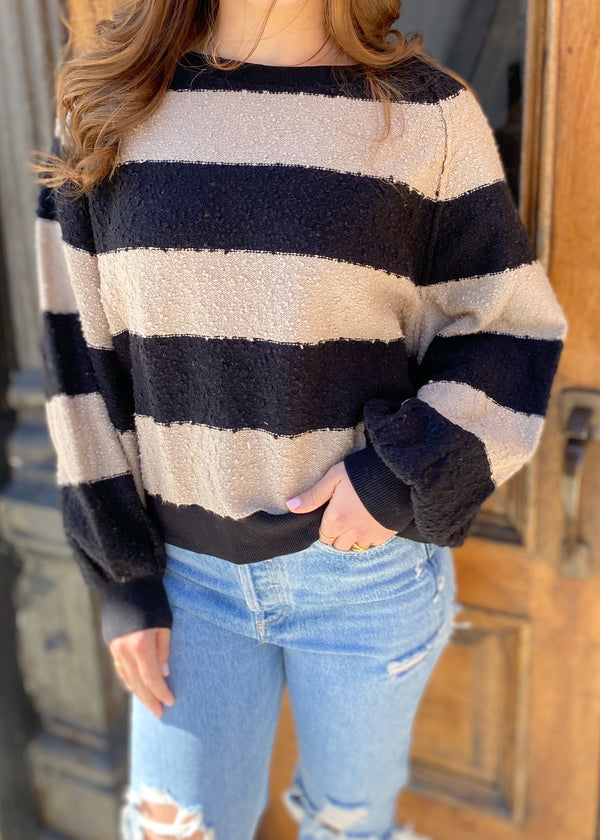 found my friend stripe pullover