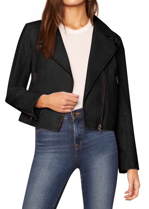 Melody Black Moto Jacket