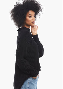 rose relaxed black sweater tunic