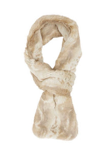 blonde mink couture faux fur loop scarf