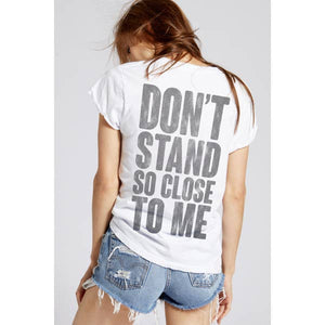the police don't stand so close vintage tee