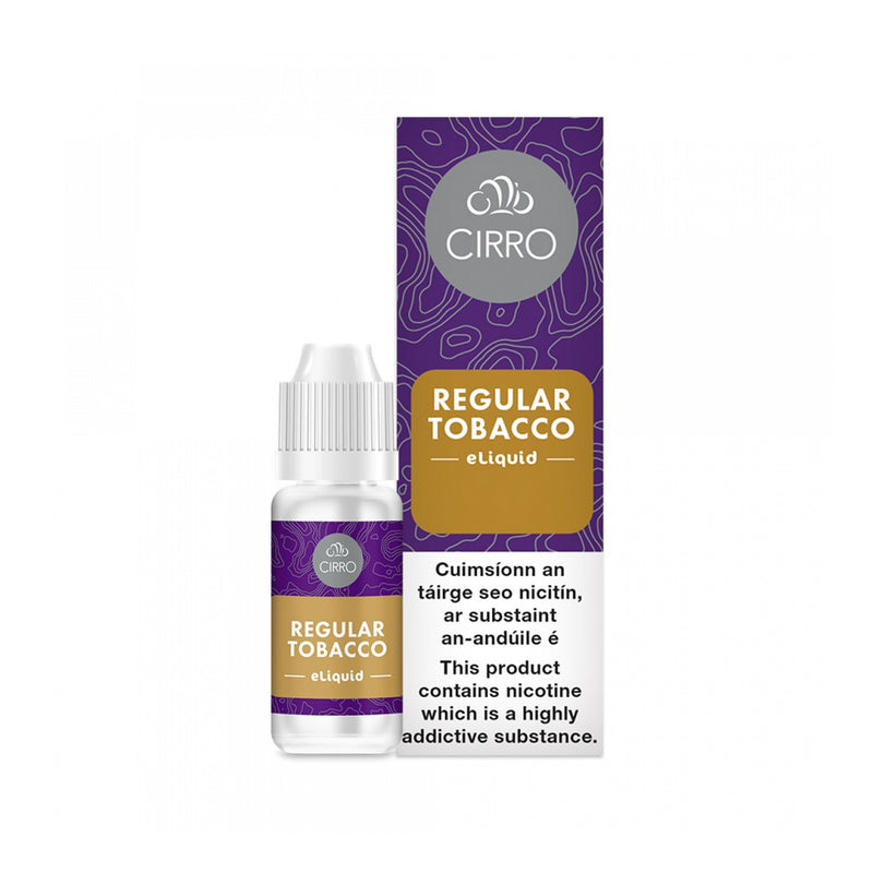 Cirro E-Liquid Regular Tobacco 6MG- Low Nicotine