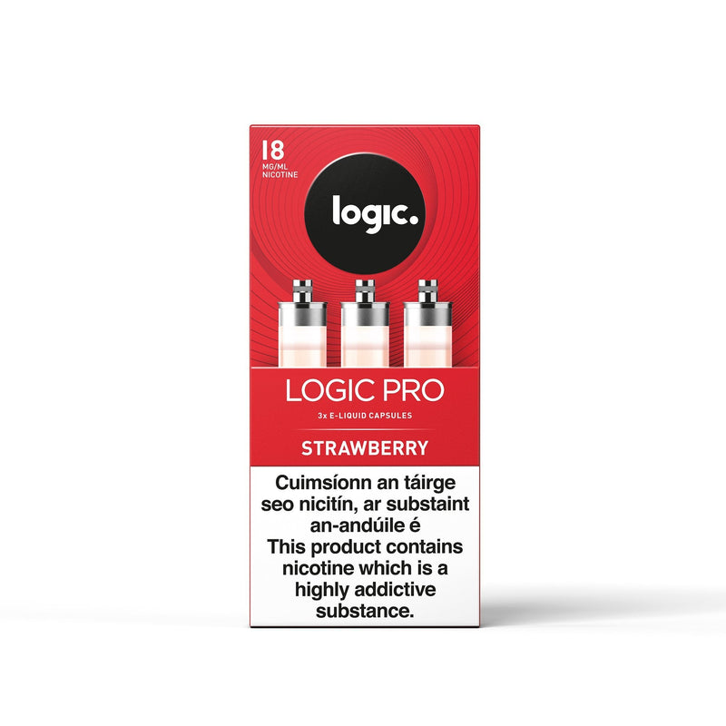 Logic Pro Capsules Strawberry 18MG - High Nicotine