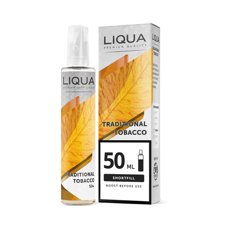Liqua Mix&Go Short Fill E-Liquid Traditional Tobacco