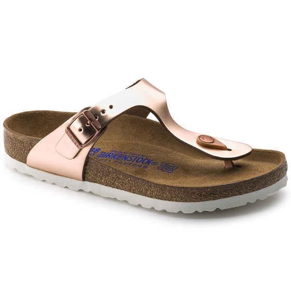 BIRKENSTOCK- Gizeh Soft Footbed Leather