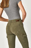 MAVI- ARINA SKINNY CARGO PANTS IN MILITARY TWILL