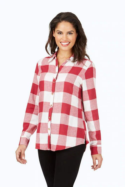 FOXCROFT- RHEA BRUSHED BUFFALO PLAID SHIRT (more colours)