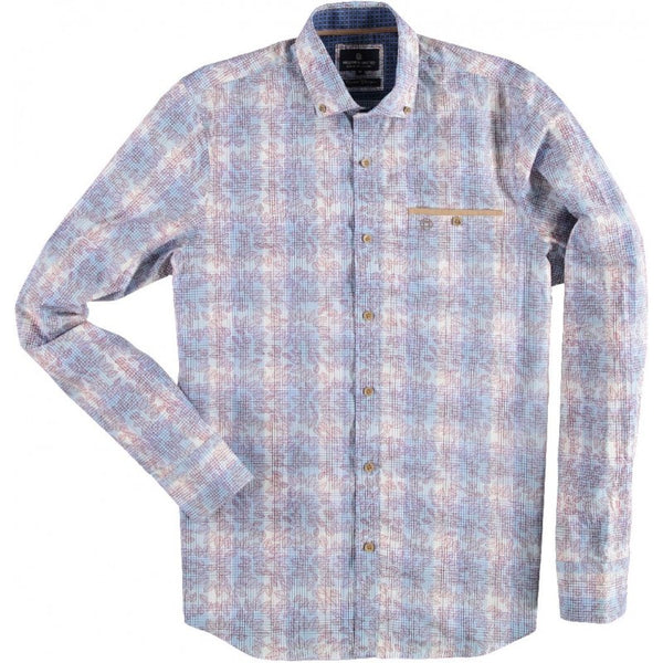 FELLOWS UNITED- Shirt L/S Leaves Checked