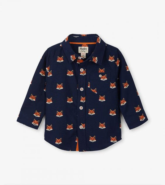 HATLEY- CLEVER FOX BABY BUTTON DOWN SHIRT