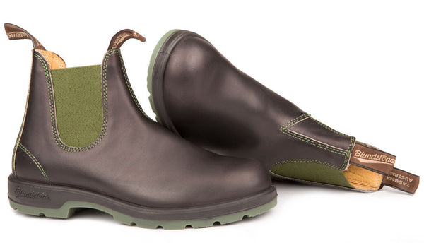 Blundstone- Men's 1402 - Green and Brown with Two Tone Sole
