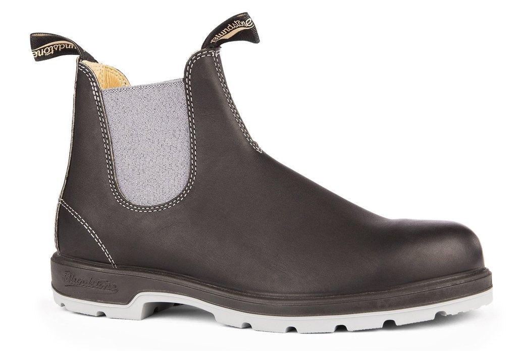 BLUNDSTONE- 1452 WOMEN'S LEATHER LINED IN BLACK WITH GREY ELASTIC AND TWO-TONE SOLE
