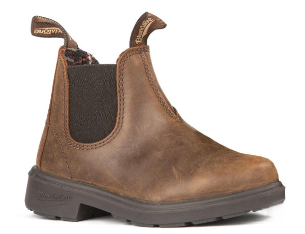 BLUNDSTONE- 1468- YOUTH KIDS' ANTIQUE BROWN
