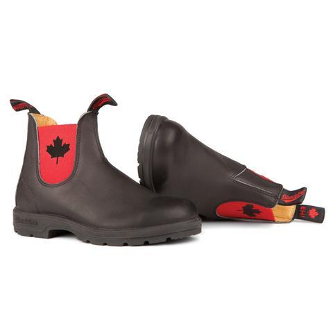 Blundstone- Men's 1474 - The Leather Lined Eh! Boot in Black with Red Elastic