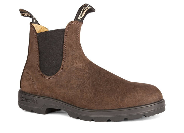 BLUNDSTONE- 1606 WOMEN'S THE LEATHER LINED IN BROWN NUBUCK