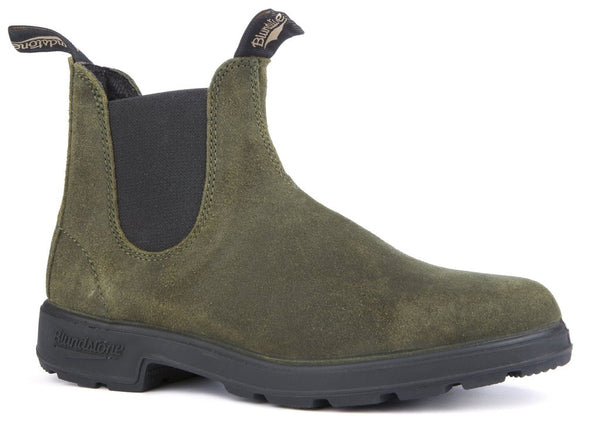 BLUNDSTONE- 1615 WOMEN'S THE ORIGINAL SUEDE IN DARK OLIVE