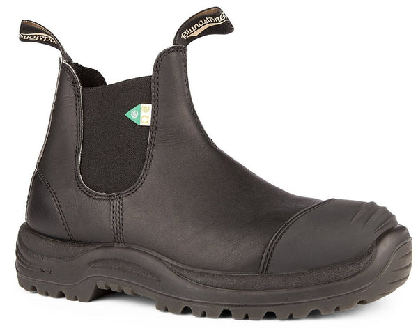 BLUNDSTONE- 168- WORK & SAFETY BOOT RUBBER TOE CAP BLACK
