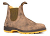 BLUNDSTONE- 1944- LEATHER LINED CLASSIC RUSTIC BROWN MUSTARD TWO-TONE SOLE