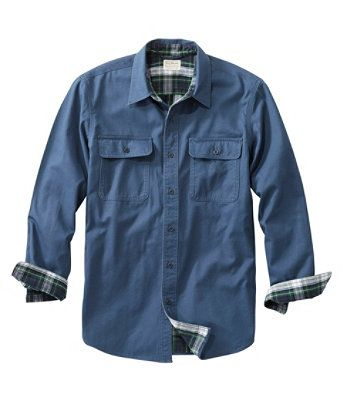 L.L. BEAN- MEN'S FLANNEL LINED HURRICANE SHIRT