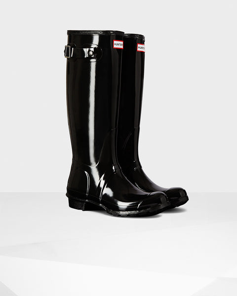 HUNTER- Women's Original Tall Gloss Wellington Boots
