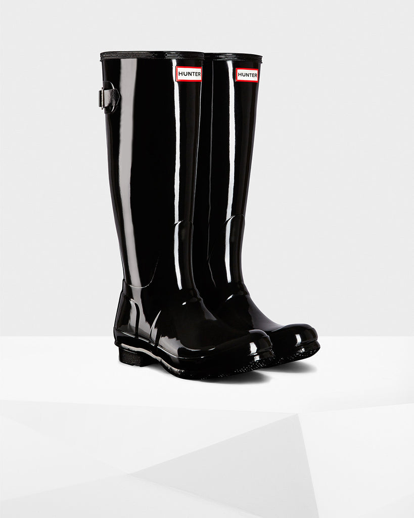 HUNTER- Women's Original Adjustable Gloss Wellington Boots