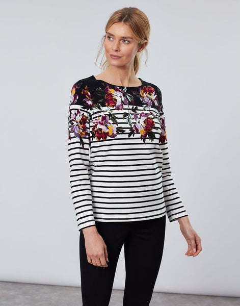 JOULES- HARBOUR PRINT LONG SLEEVE JERSEY TOP