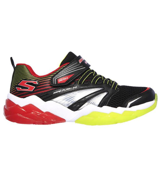 SKECHERS - YOUTH RAPID FLASH 2.0 BLACK