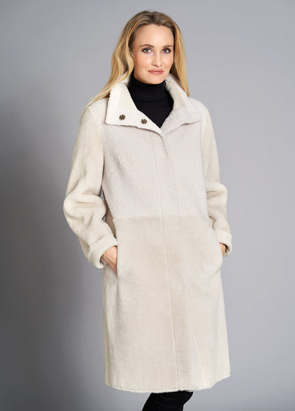 JUNGE- JACKET IN IMITATED SHEEPSKIN