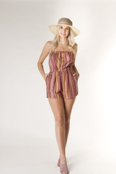 CALIFORNIA MOONRISE- BANDEAU STRIPE ROMPER