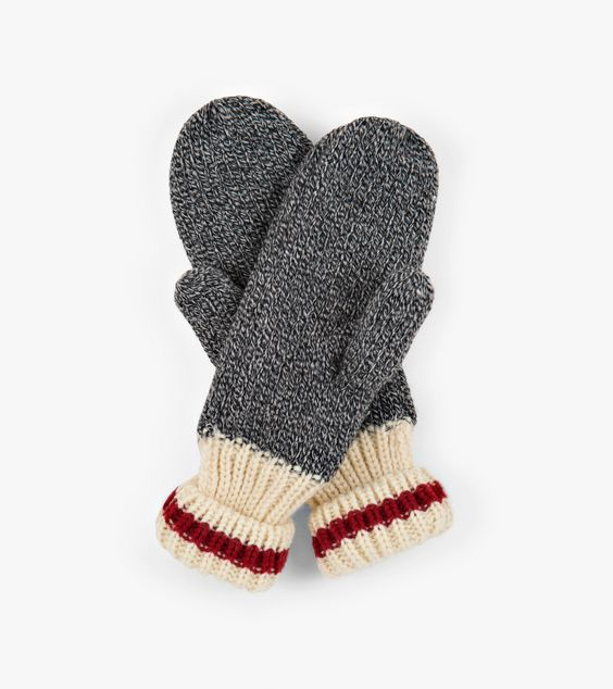 HATLEY- LITTLE BLUE HOUSE- RED STRIPE HERITAGE ADULT MITTENS