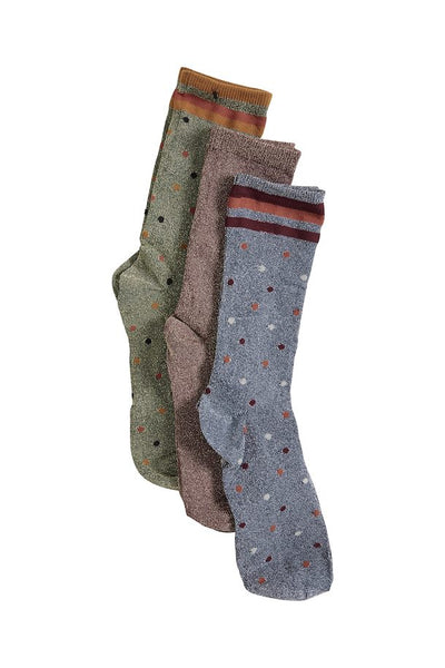 ICHI- DOT 3 PACK SOCKS
