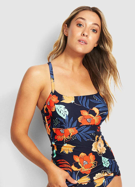 SEAFOLLY- ON VACATION DD SINGLET TANKINI TOP
