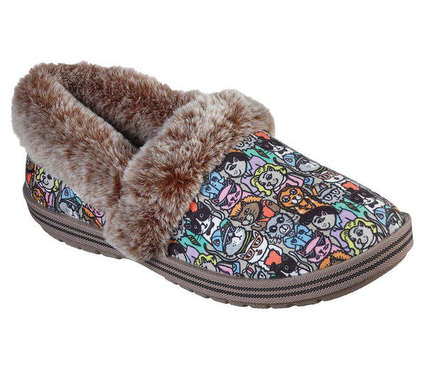 SKECHERS- WOMEN'S  BOBS TOO COZY - CLASSIC CAT