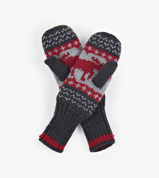 HATLEY- LITTLE BLUE HOUSE- RED MOOSE HERITAGE ADULT MITTENS
