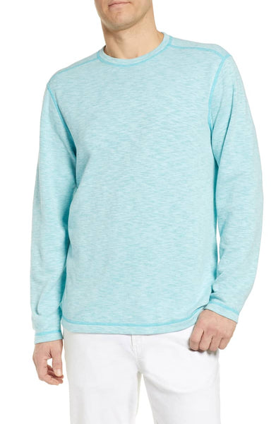 TOMMY BAHAMA- SEAGLASS FLIP REVERSIBLE LONG-SLEEVE T-SHIRT